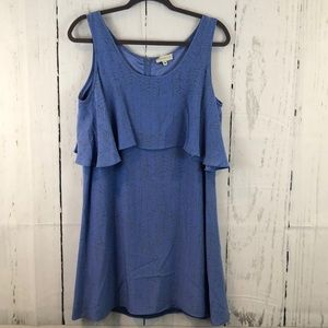New Annie Griffin Silk Ruffle Dress